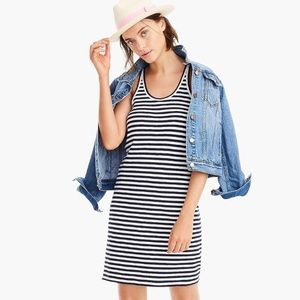 J Crew racerback striped tank dress